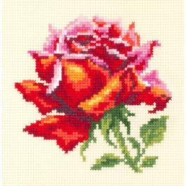 MN 150-003 Zestaw do haftu - Czerwona róża