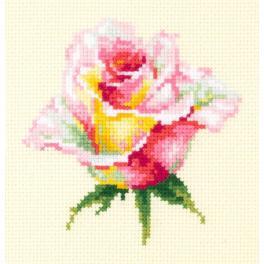 MN 150-004 Zestaw do haftu - Kwitnąca róża