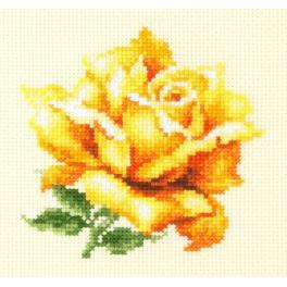 MN 150-005 Zestaw do haftu - Żółta róża