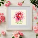 MN 150-002 Zestaw do haftu - Różowa róża