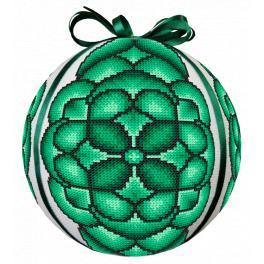 GU 10686 Wzór do haftu drukowany - Bombka zielona