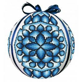 GU 10685 Wzór do haftu drukowany - Bombka niebieska