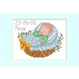GC 2005-02 Wzór graficzny - Dzień Narodzin - niebieski