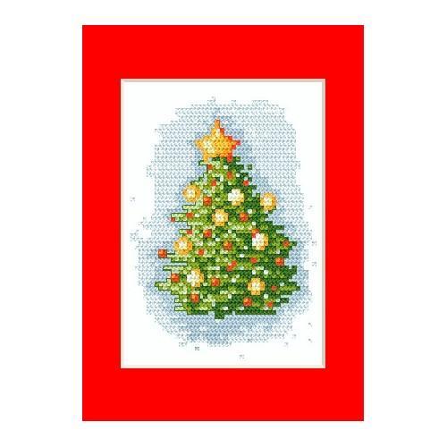 Wzór graficzny - Kartka świąteczna - Haft krzyżykowy