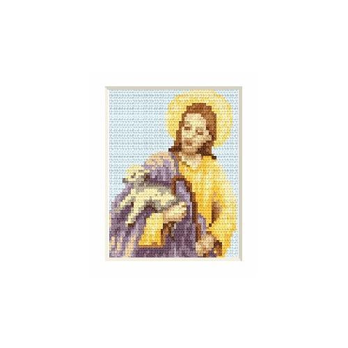 Wzór graficzny - Kartka wielkanocna - Jezus - Haft krzyżykowy