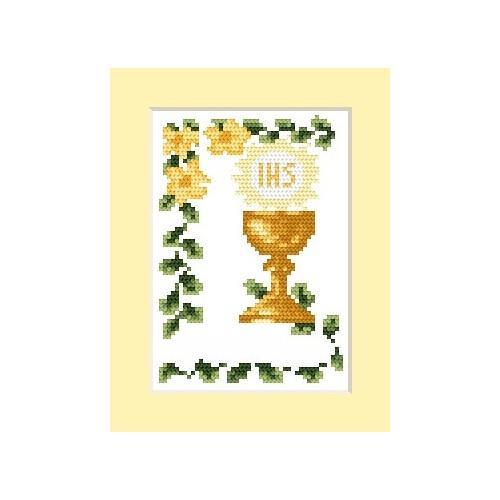 Wzór graficzny - Zaproszenie komunijne - Haft krzyżykowy