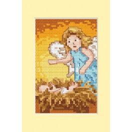Wzór graficzny - Kartka świąteczna - Narodzenie - Haft krzyżykowy