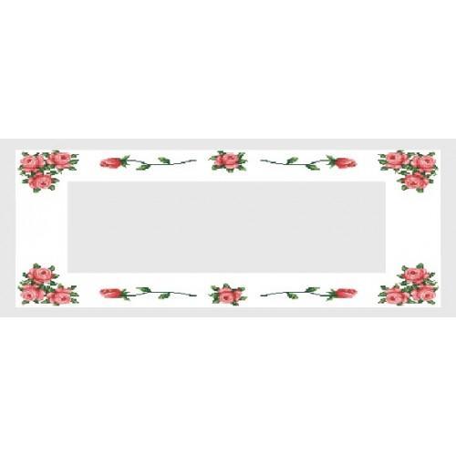 Wzór graficzny - Bieżnik z różami - Haft krzyżykowy