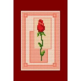 Wzór graficzny - Walentynki- Walentynkowa róża - Haft krzyżykowy