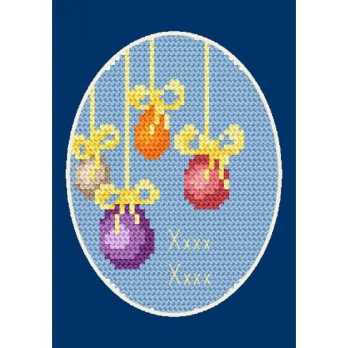 Wzór graficzny - Kartka wielkanocna - Haft krzyżykowy