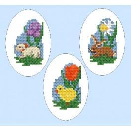 GC 4803-01 Wzór graficzny - Haftowane pisanki - Haft krzyżykowy