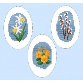 GC 4803-02 Wzór graficzny - Haftowane pisanki - Haft krzyżykowy