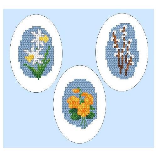 Wzór graficzny - Haftowane pisanki - Haft krzyżykowy
