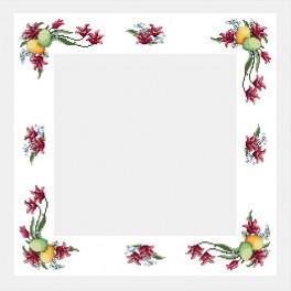 Wzór graficzny - Obrus wielkanocny - Haft krzyżykowy