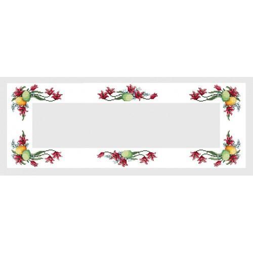 Wzór graficzny - Bieżnik wielkanocny - Haft krzyżykowy
