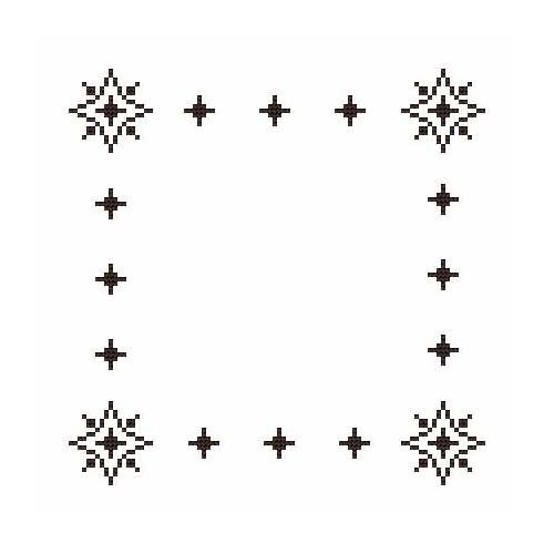 Wzór graficzny - Serwetka mała - Sarny - Haft krzyżykowy
