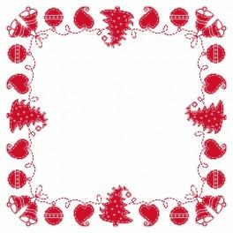 Wzór graficzny - Serwetka – Świąteczna fastryga - Haft krzyżykowy