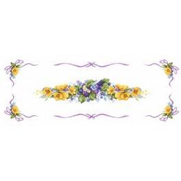 Wzór graficzny - Wiosenny bieżnik - Haft krzyżykowy