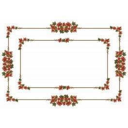 Wzór graficzny - Obrus - Jesienne liście - Haft krzyżykowy