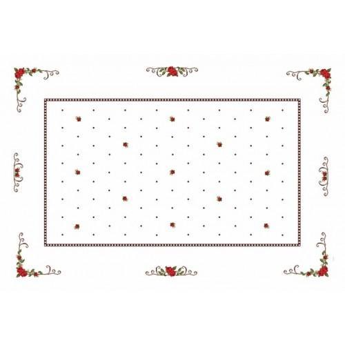 Wzór graficzny - Obrus - Różyczki - Haft krzyżykowy