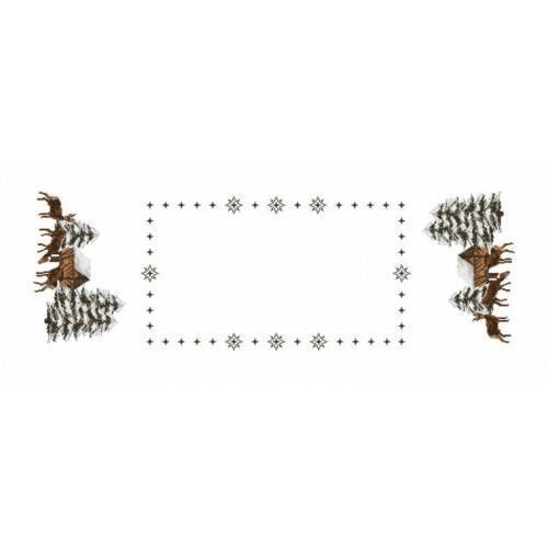 Wzór graficzny - Bieżnik - Sarny - Haft krzyżykowy