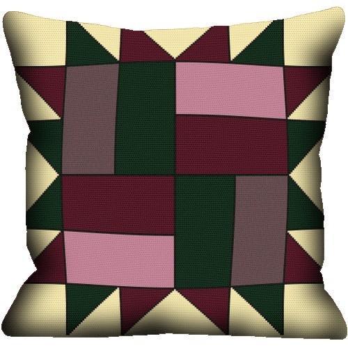 Wzór graficzny - Poduszka - Abstrakcja III - Haft krzyżykowy