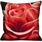 Wzór graficzny - Poduszka - Róża czerwona haft krzyżykowy - Haft krzyżykowy