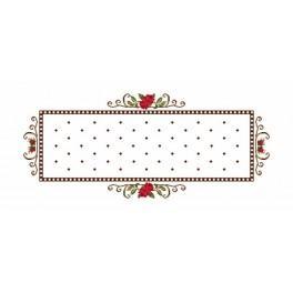 Wzór graficzny - Bieżnik - Różyczki - Haft krzyżykowy