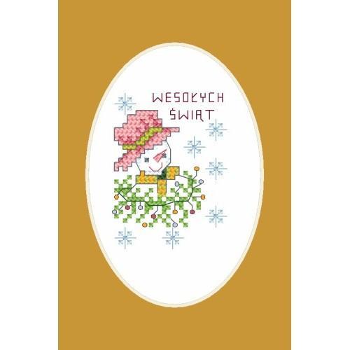 Wzór graficzny - Wesołych świąt - Haft krzyżykowy