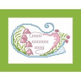 GU 4349 Wzór graficzny - Kartka okolicznościowa - Mojej najdroższej mamie - Haft krzyżykowy