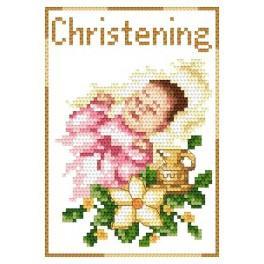 GU 4425-01 Wzór graficzny - Pamiątka chrztu - Dziewczynka
