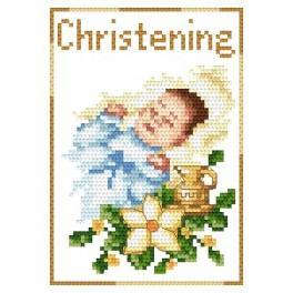 GU 4425-02 Wzór graficzny - Pamiątka chrztu - Chłopczyk