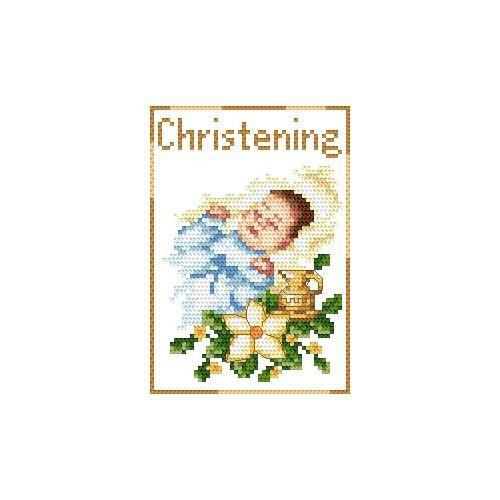 Wzór graficzny - Pamiątka chrztu- Chłopczyk - B. Sikora - Haft krzyżykowy