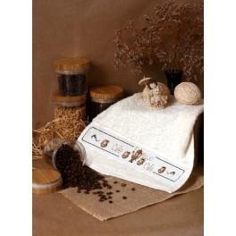 Wzór graficzny - Ręcznik z imbrykiem - Haft krzyżykowy