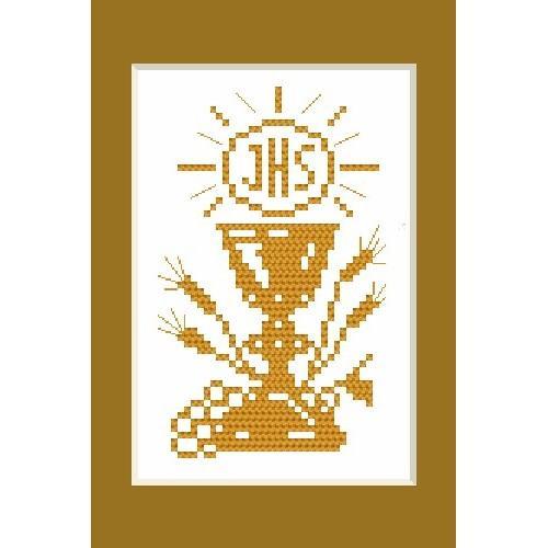 Wzór graficzny - Kartka komunijna - B. Sikora - Haft krzyżykowy
