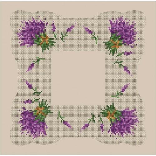 Wzór graficzny - Serwetka z lawendą - B. Sikora-Małyjurek - Haft krzyżykowy