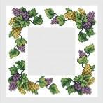 Wzór graficzny - Serwetka z winogronami - B. Sikora-Małyjurek - Haft krzyżykowy