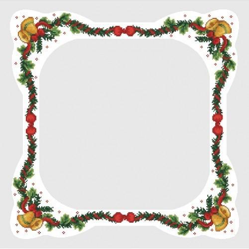 Wzór graficzny - Obrus z dzwoneczkami - Haft krzyżykowy