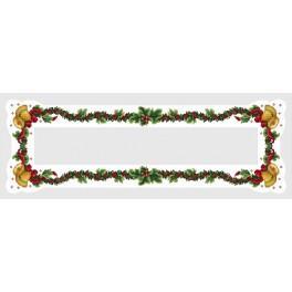Wzór graficzny - Bieżnik z dzwoneczkami - Haft krzyżykowy