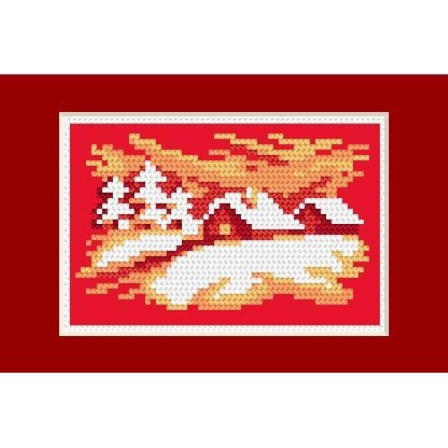 GU 4464-02 Wzór graficzny - Kartka świąteczna - Wigilijny wieczór