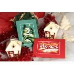 Wzór graficzny - Kartka świąteczna- Wigilijny wieczór - B. Sikora - Haft krzyżykowy