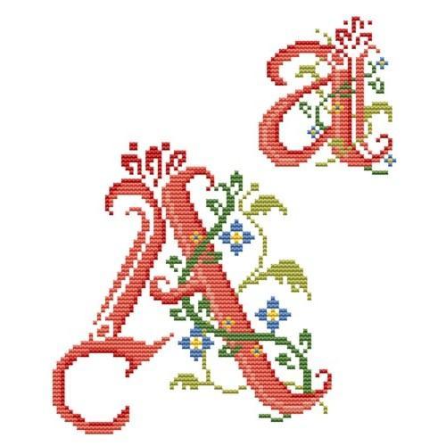 Wzór graficzny - Monogram A - B. Sikora-Małyjurek - Haft krzyżykowy