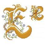 Wzór graficzny - Monogram E - B. Sikora-Małyjurek - Haft krzyżykowy