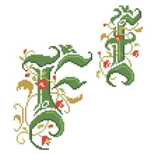 Wzór graficzny - Monogram F - B. Sikora-Małyjurek - Haft krzyżykowy