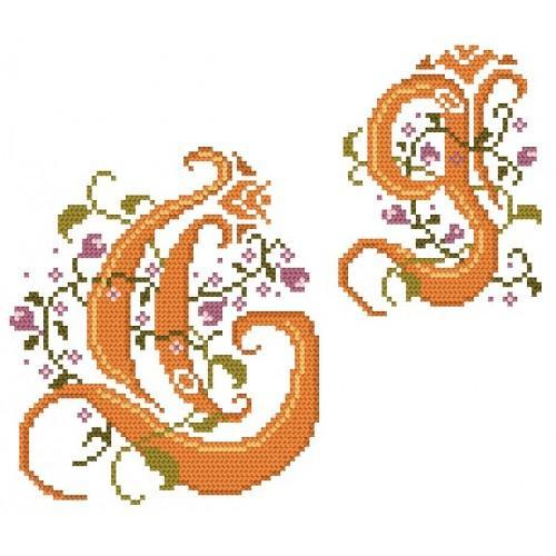 Wzór graficzny - Monogram G - B. Sikora-Małyjurek - Haft krzyżykowy