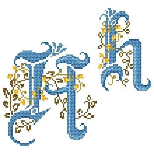 Wzór graficzny - Monogram H - B. Sikora-Małyjurek - Haft krzyżykowy