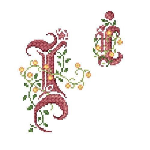 Wzór graficzny - Monogram I - B. Sikora-Małyjurek - Haft krzyżykowy