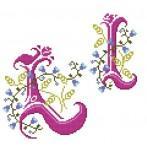 Wzór graficzny - Monogram L - B. Sikora-Małyjurek - Haft krzyżykowy