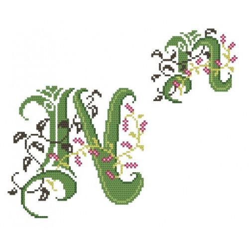 Wzór graficzny - Monogram N - B. Sikora-Małyjurek - Haft krzyżykowy