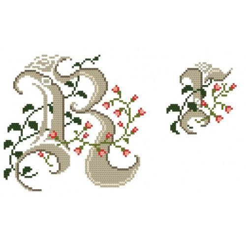 Wzór graficzny - Monogram R - B. Sikora-Małyjurek - Haft krzyżykowy